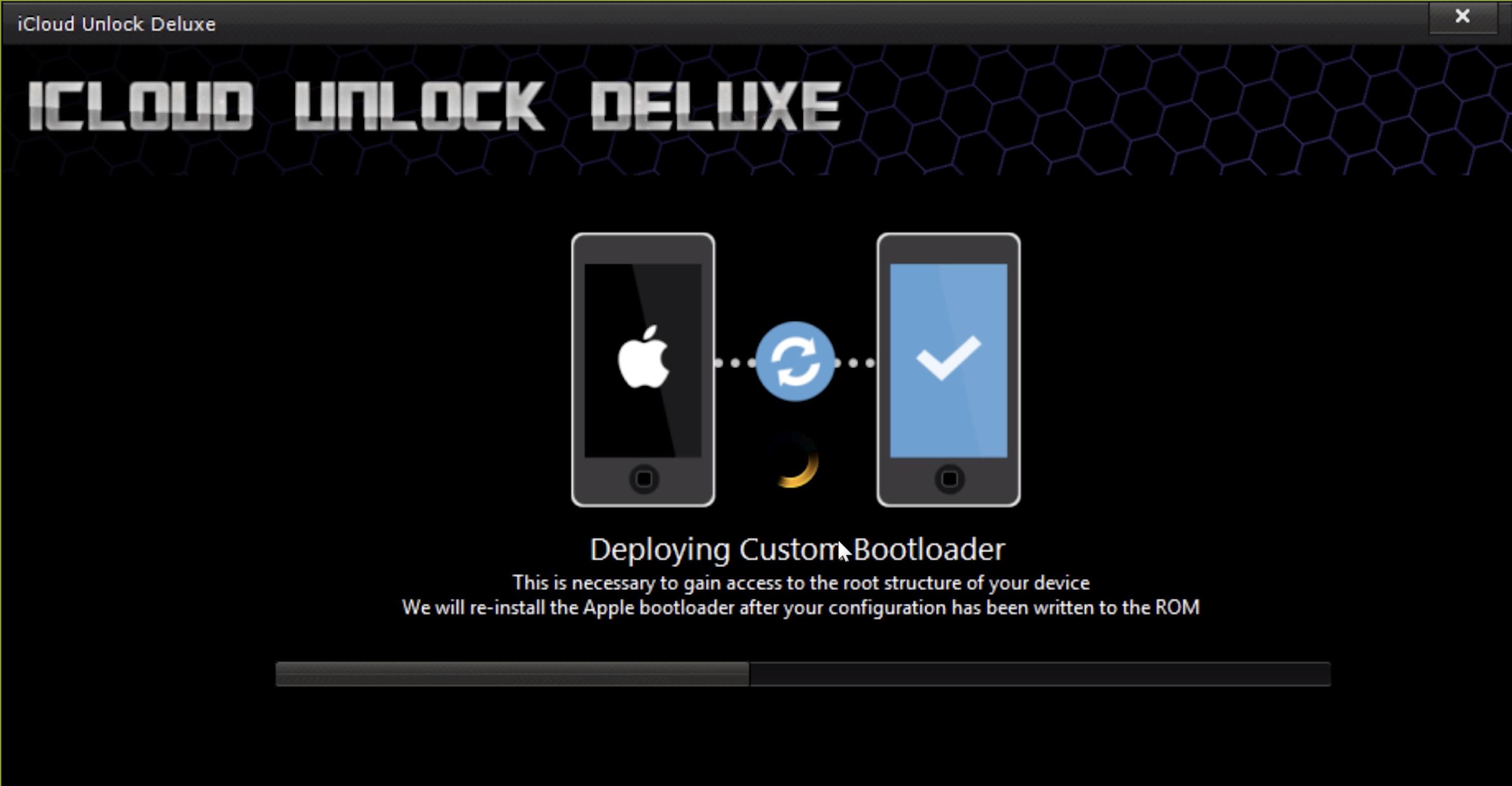 iCloud Unlock Deluxe Bootloader