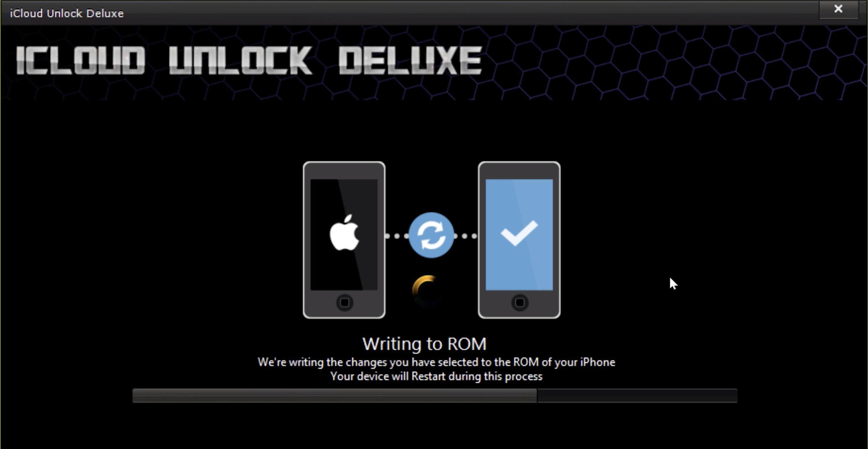 iCloud Unlock Deluxe Configuring