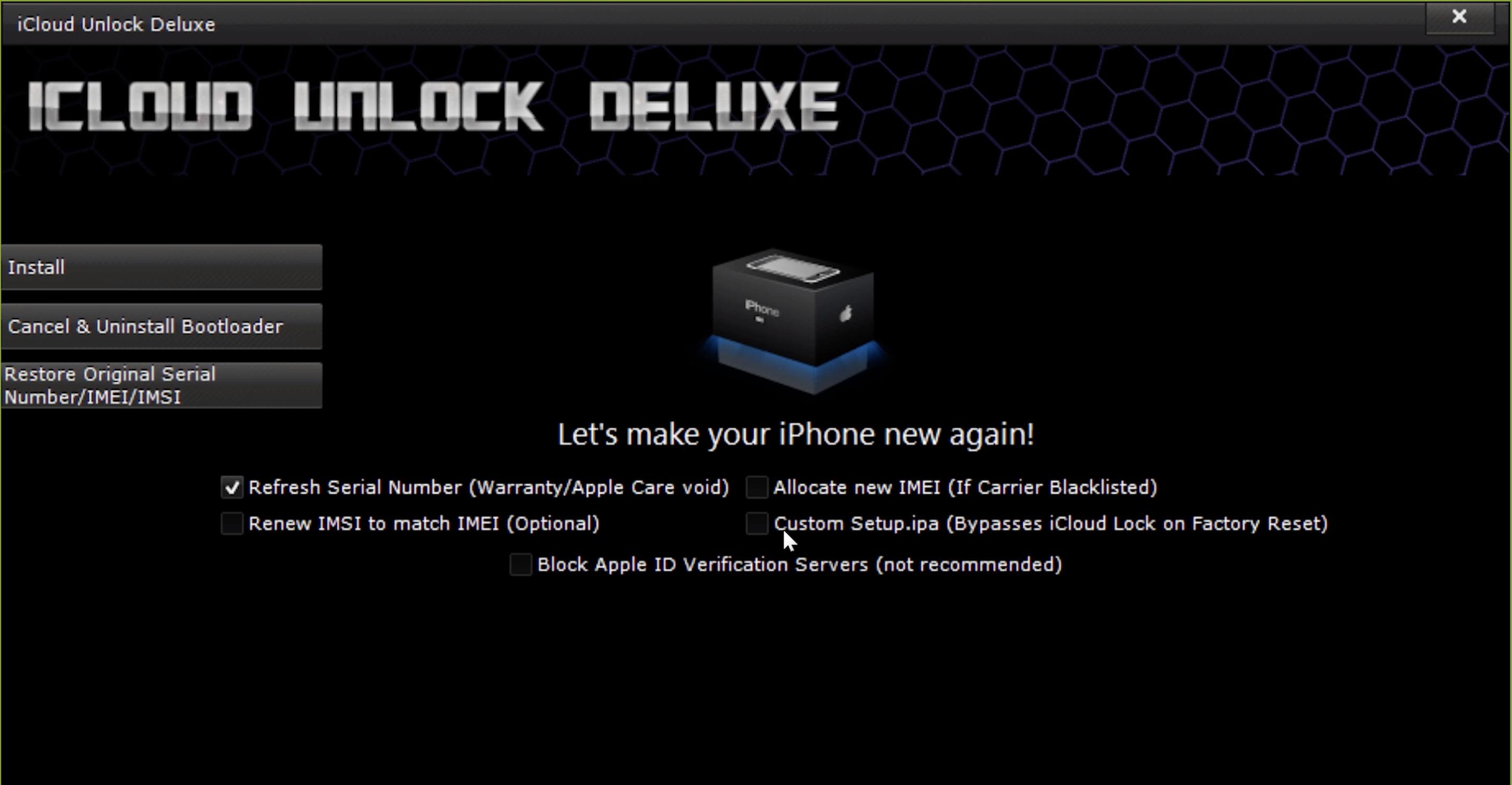 iCloud Unlock Deluxe Options
